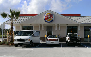 Front of Burger King Palm Bay, FL