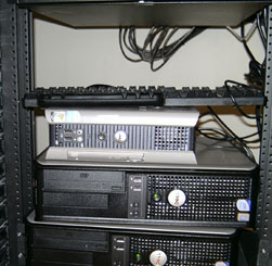 Display PC (DCN) installed in branch rack